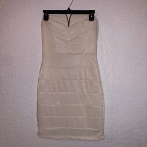 short white strapless dress